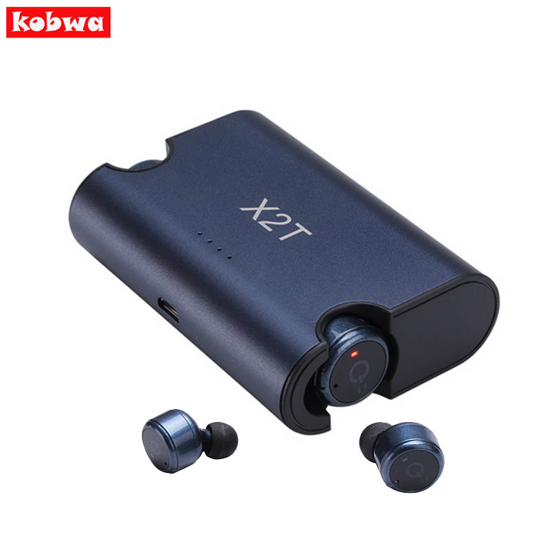 X1T X2T Twins True Wireless TWS Mini Headset Bluetooth Earphone CSR4.2 headphone with Magnetic Charging Dock for  IOS Android remax 2 in1 mini bluetooth 4 0 headphones usb car charger dock wireless car headset bluetooth earphone for iphone 7 6s android