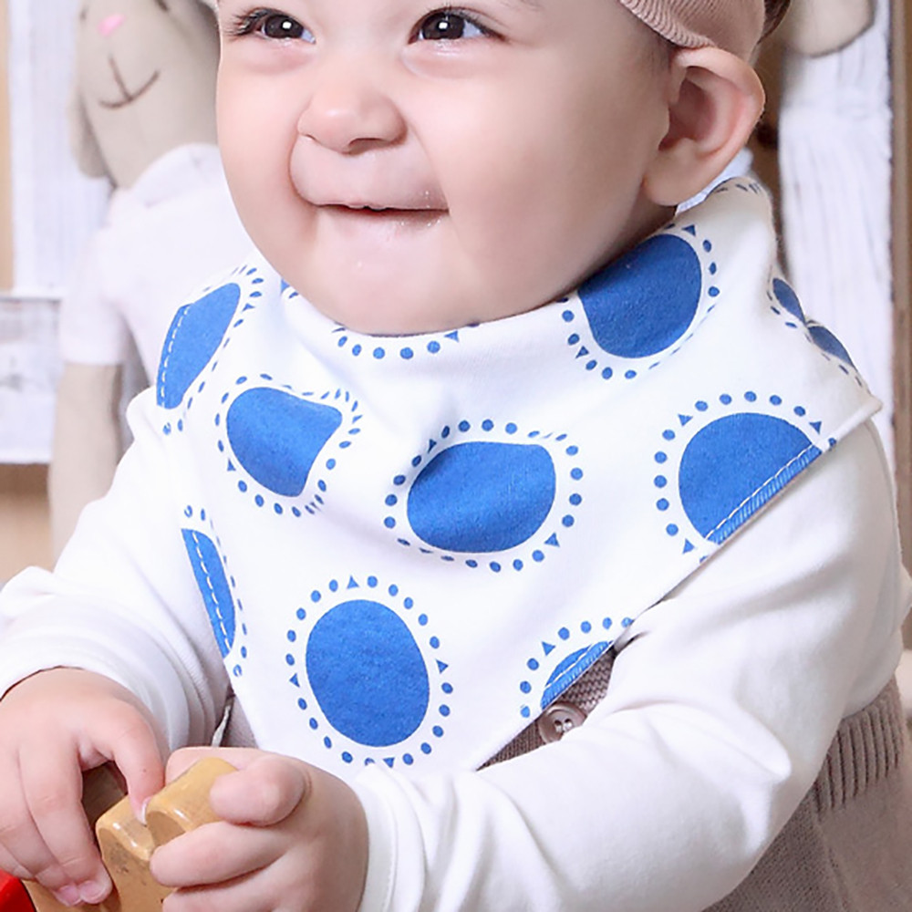 Fashion Cute Warm Cartoon Double Printing Kid Toddler Bandana Baby Bibs Saliva Towel Bibs OCT6