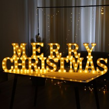 New 22CM 3D 26 White Letter LED Marquee Sign Alphabet Light Indoor Wall Hanging Night Light Bedroom Wedding Birthday Party new wedding event decoration gifts white wooden letter led marquee sign alphabet light indoor wall light up night light