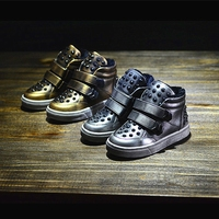 2016 Hot Sale Europe Style Fashion Rivet Chaussure Enfant High Quality Retro Boy And Girl S