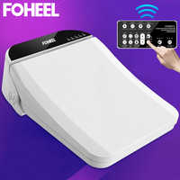 FOHEEL square smart toilet seat cover electronic bidet cover toilet bowls for toilets seat heating clean dry smart toilet lid