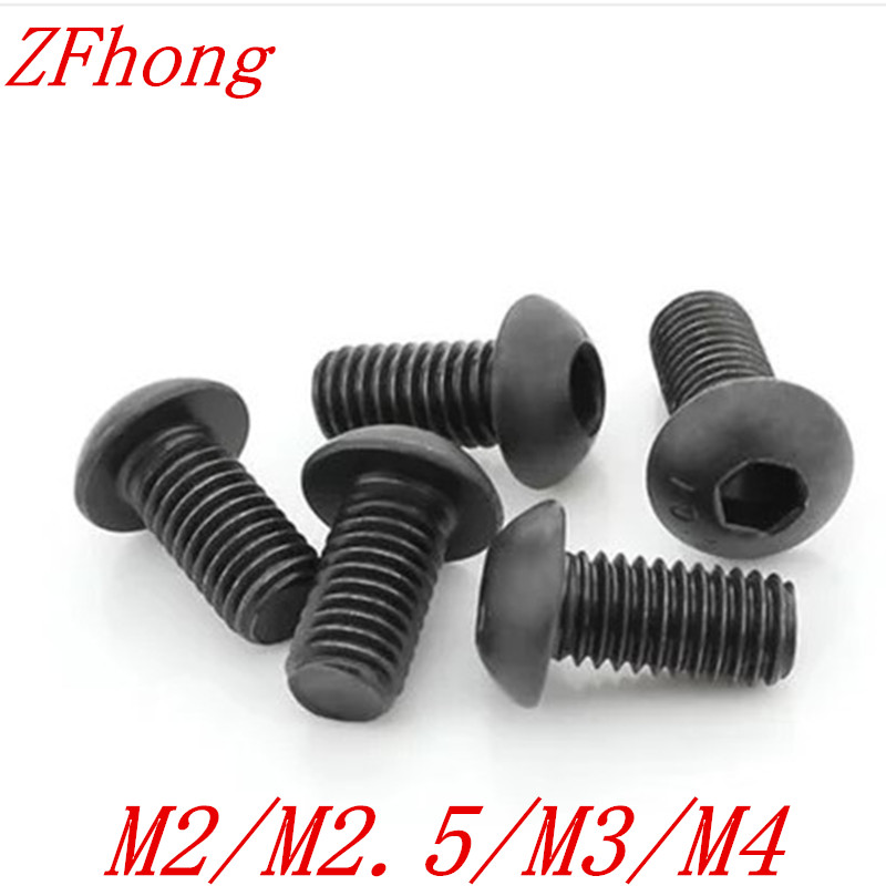 (100pc/lot) M2,M2.5,M3,M4 *L =4~30mm grade 10.9 class ISO7380 alloy steel Hex socket button head cap screw 50pcs m2 m2 5 m3 m4 iso7380 gb70 2 304 stainless steel a2 round head screws mushroom hexagon socket button head screw