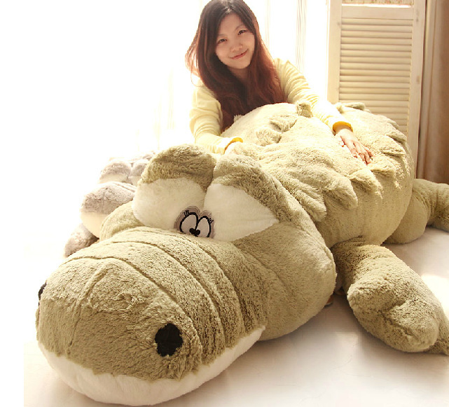 huge lovely plush green cartoon crocodile toy big stuffed crocodile doll pillow gift about 200cm 0406 stuffed animal 44 cm plush standing cow toy simulation dairy cattle doll great gift w501