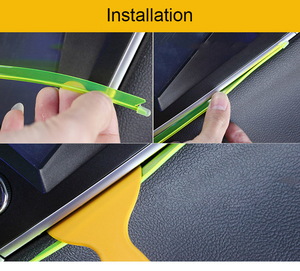 Image 5 - 1M Car LED Interior Led Strip Flexible LED Neon Light Decoration Garland lisence plate Wire Rope Tube Line With USB Driver DIY
