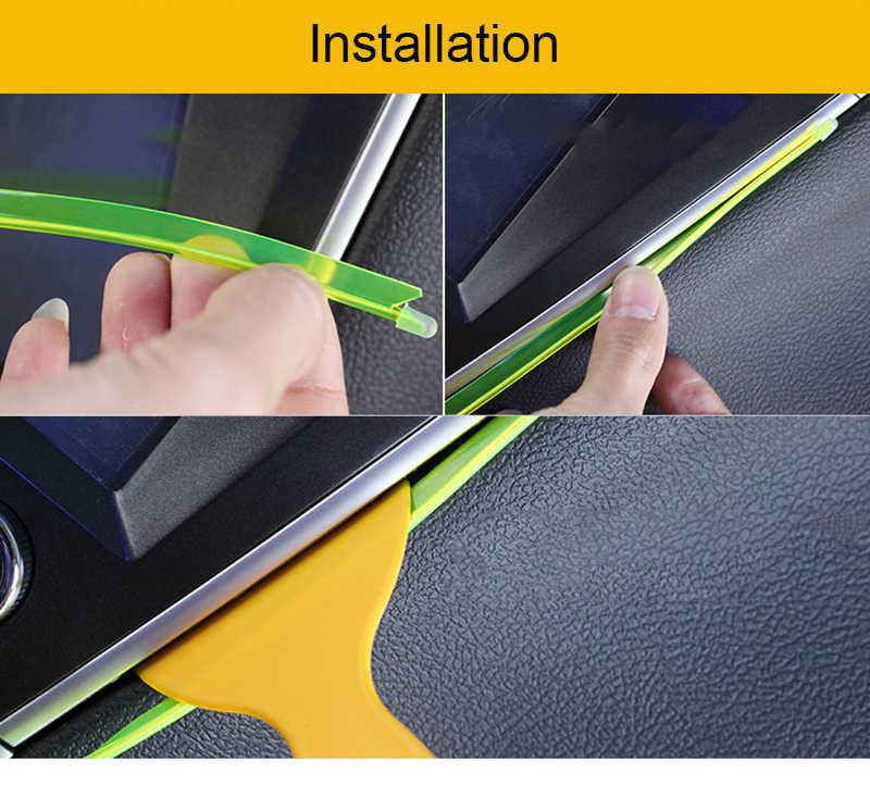 Tira LED Interior para coche de 1M, decoración de luz de neón Led Flexible, guirnalda, placa de lisence, cuerda de alambre, línea de tubo con controlador USB DIY