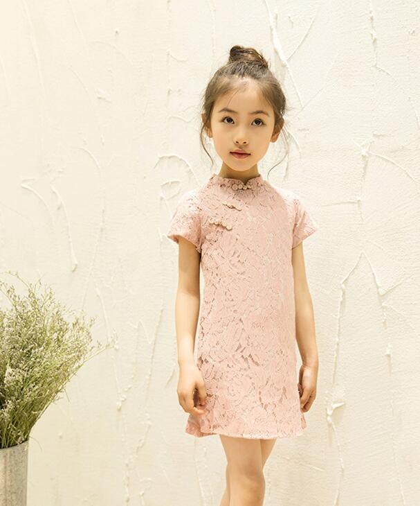 2018 piger kjole sommer forår kort prinsesse kjole afslappet o hals - Børnetøj - Foto 4