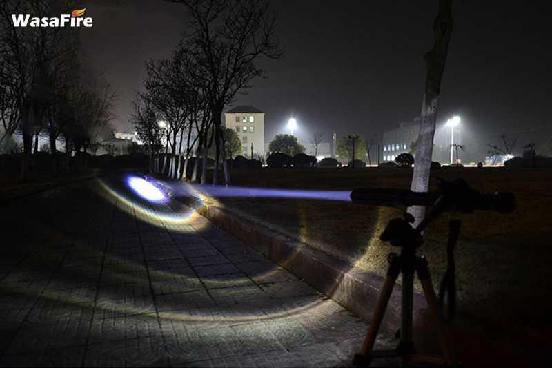 Teleskopschlagstock led taschenlampe einstellbarer fokus 800lm