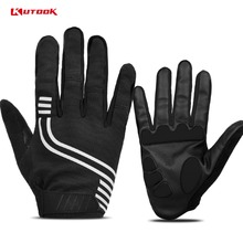 ФОТО kutook men's cycling full finger gloves touch screen for bike bicycle riding breathable washable training exercise equipment