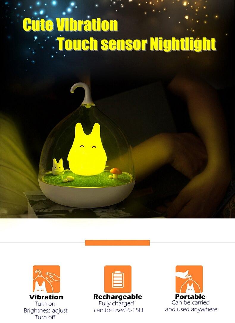 Totoro Do Quarto Do Bebê Lâmpada De Mesa Noite