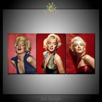 3 Pieces Marilyn Monroe Hot Picture Modern Wall Art Pictures HD Printed Canvas Painting Modular Pictures