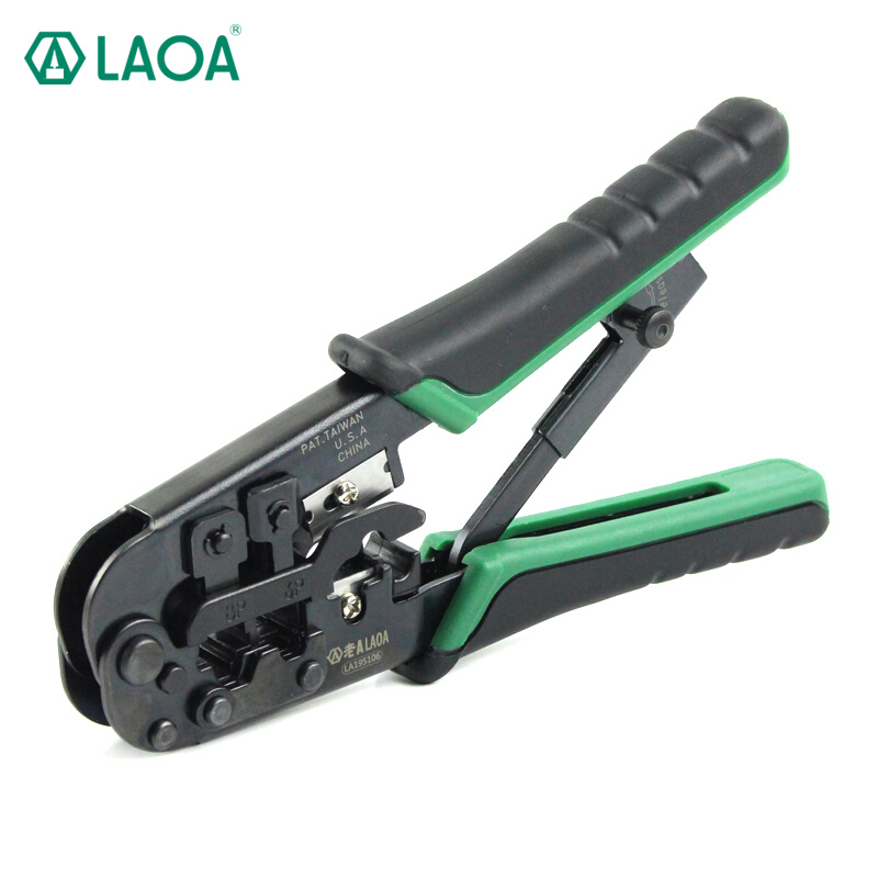 LAOA  4P/6P/8p Multifunction Ratchet Network Pliers Crimping Crimper Crimp Tool Made in TaiwanLAOA  4P/6P/8p Multifunction Ratchet Network Pliers Crimping Crimper Crimp Tool Made in Taiwan