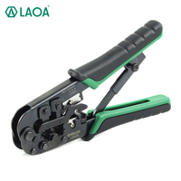 LAOA 4P/6P/8p Multifunction Ratchet Network Pliers Crimping Crimper Crimp Tool Made in Taiwan