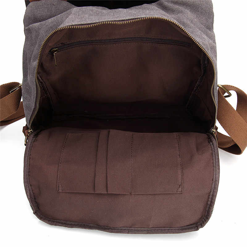 Nesitu Новый Винтаж высокое качество хаки серый синий Crazy Horse кожа холст женский рюкзак Для женщин сумки на плечо # M1061