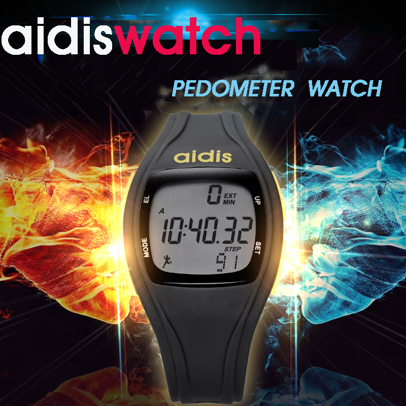 Men And Women Running Pedometer font b Watch b font Sports Luminous Alarm Clock Waterproof Function
