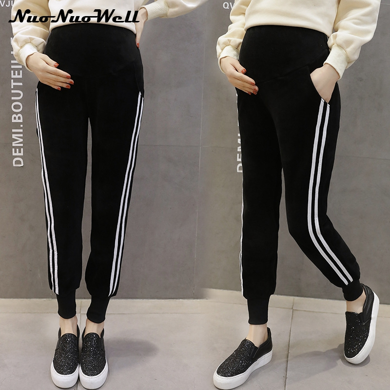 New Winter High Waist Maternity Pants Casual Fashion Thickening Trousers Pregnant Women Clothes Sport wear Warm Pregnancy Pants materniity pants women pregnancy loose cotton pants capris maternity clothes casual pants black high waist wide leg pants spring