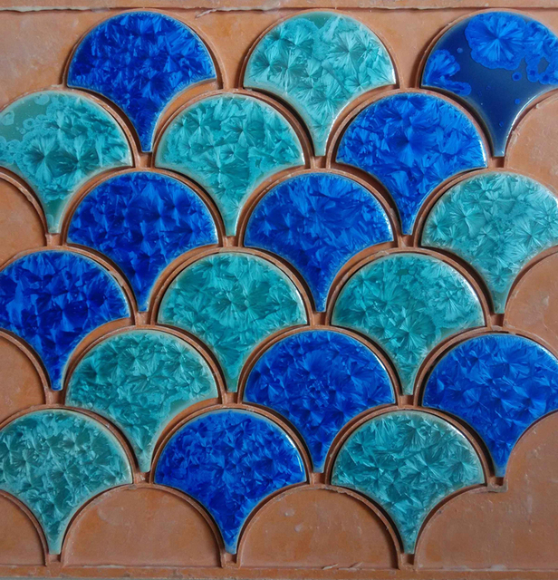How to calculate bathroom fan size - Aliexpress Com Buy Blue Green Fish Scale Ceramic Mosaic