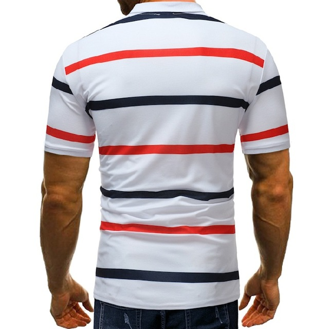 New  Style  Plus Size   Polo Shirt Men Short Sleeve  Print   Summer Polo Shirt Men  Striped   Camisa Polo Masculina