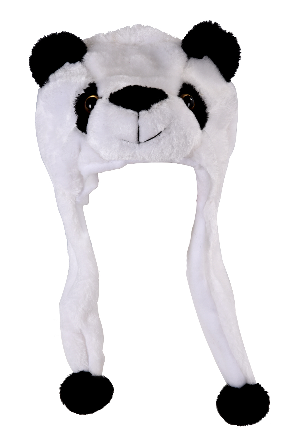 SAF-Animal Hat With Scarf Faux Fur Kids Winter Hat - Panda