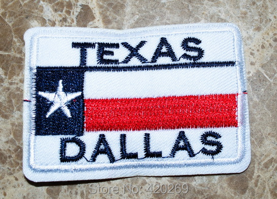 Hot Sale Texas Dallas Flag United States Us Usa White Star Iron On