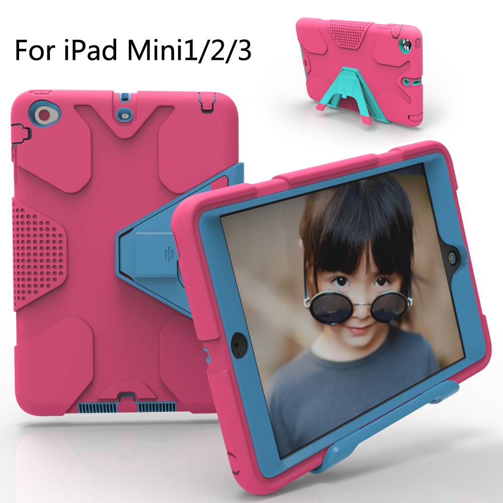 For iPad Mini/iPad Mini 2/iPad Mini 3 Case EVA Heavy Duty Shockproof Hybrid Rubber Rugged Hard Protective Skin Cover Case