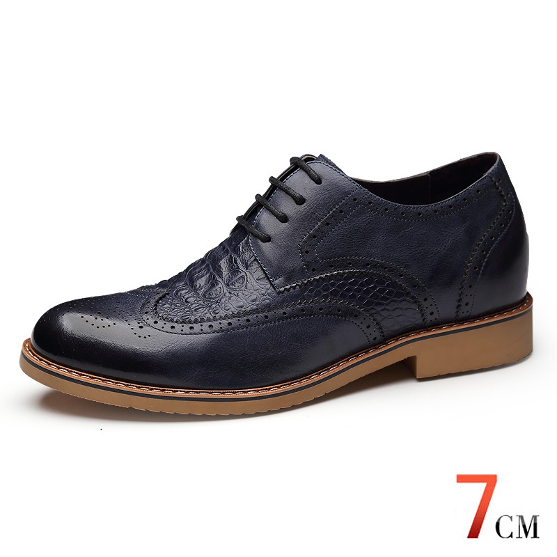 X8865 font b Men s b font Height Increasing Elevator Calf Leather Brogue Oxfords Wedding Shoes