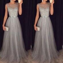 Женское длинное вечернее бальное платье для выпускного вечера
