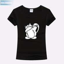 Dabbing Cat Funny T Shirts Women 2019 Cotton Cute Animal Dab Pose High Quality Printed Shirt Christmas Womens Clothing