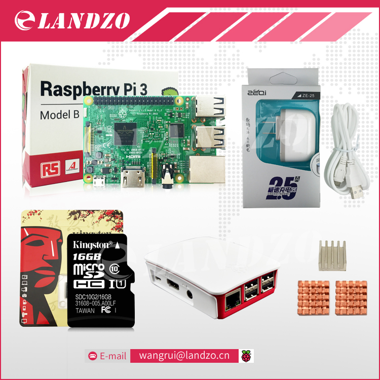 A Raspberry Pi 3 Starter Kit pi 3 board Original Official case American standard power supply