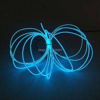 Hot 2.3mm 15M 10 colors Select Electroluminescent wire Car Decor Flexible Neon glowing Light Tube Rope Powered by DC12V Drive