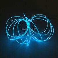 Sıcak 2.3mm 15 M 10 renkler Seç Elektrominesans tel Car Dekor Esnek Neon parlayan Işık Tüp Halat Powered by DC12V Sürücü