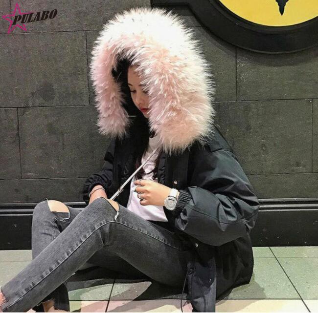 Harajuku White Teddy Casual Cropped Women Pulabo white Winter Wool Fashion Waman Black Coats Ladies Jacket Coat Autumn Fur Faux nR6CwH4qC