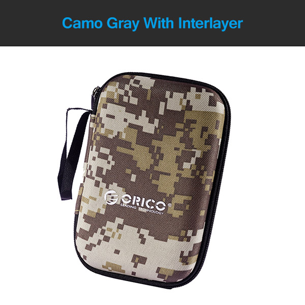 ORICO 2.5 inch Protection Bag for Power Bank HDD SSD Hard Disk Drive Portable Protector Enclosure Case Camo Gray/Blue/Black