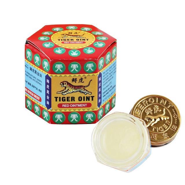 สีแดงเสือประเทศไทยPainkillerกล้ามเนื้อRepellingยุงBalm Mint Cooling RefreshสมองยุงกัดOintment