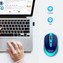 TeckNet USB Wireless mouse 2000DPI Adjustable USB Receiver Optical Computer Mouse Auto Sleeping 2.4GHz Ergonomic Mice For Laptop цена и фото