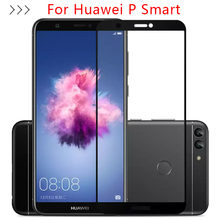 Protective Glass For Huawei P Smart Tempered Glass Screen Protector Case On Huawey Honor Psmart Glas Phone Film Full Cover 5.65(China)
