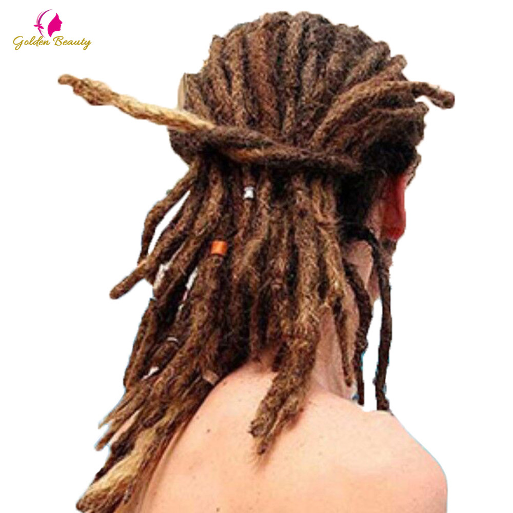 "Golden Beauty 6"" 10"" Handmade Dreadlocks Hair Extensions 5strands Synthetic Dreadlock Crochet Hair For Women Men"