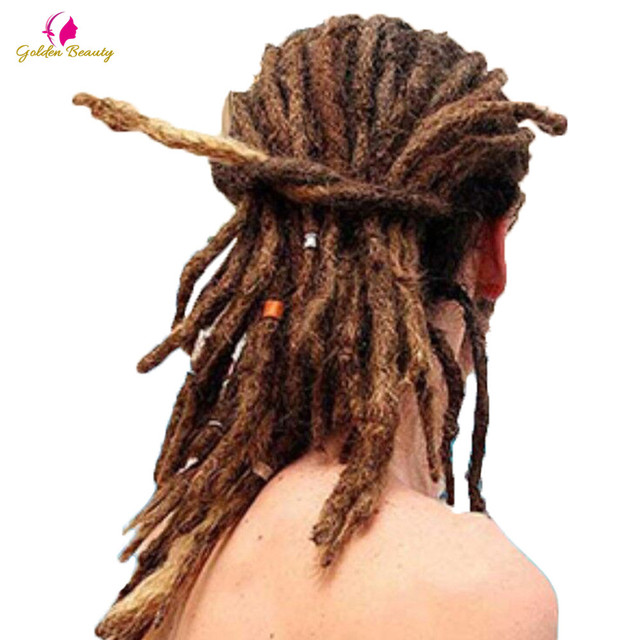 "Golden Beauty 6"" 10"" Handmade Dreadlocks Hair Extensions 5strands Synthetic Dreadlock Crochet Hair For Women Men"