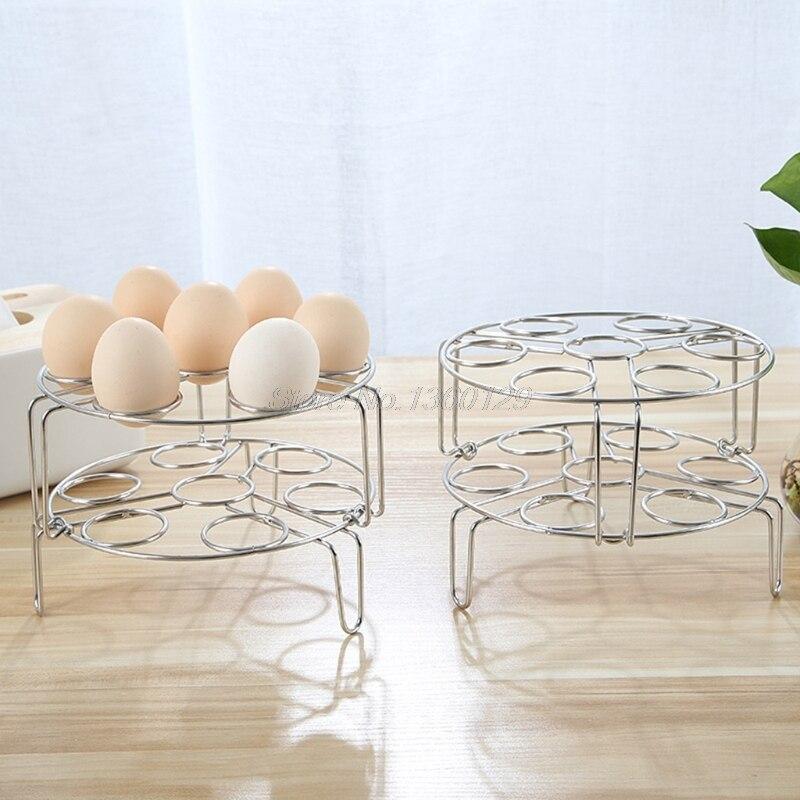 7 Hole Stainless Steel Egg Steamer Rack Trivet For Instant Pot Pressure Cooker Dropship