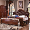 1 bed  solid wood bedroom furniture  design design for european market CE-10-2010
