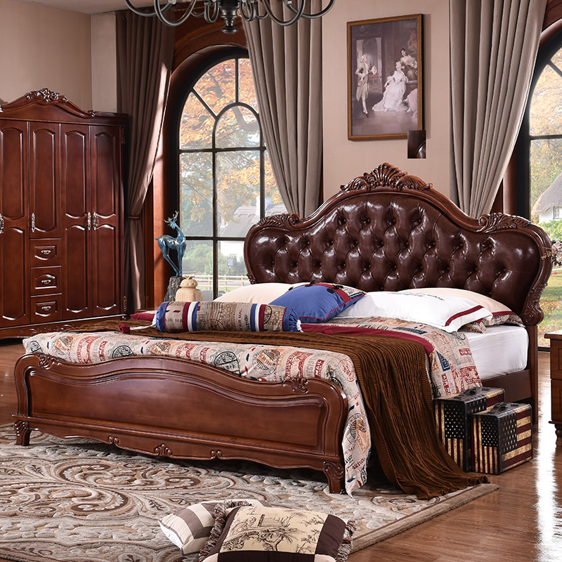 1 bed solid wood bedroom furniture design design for european market ce 10 2010 - Antique Queen Bed Frame