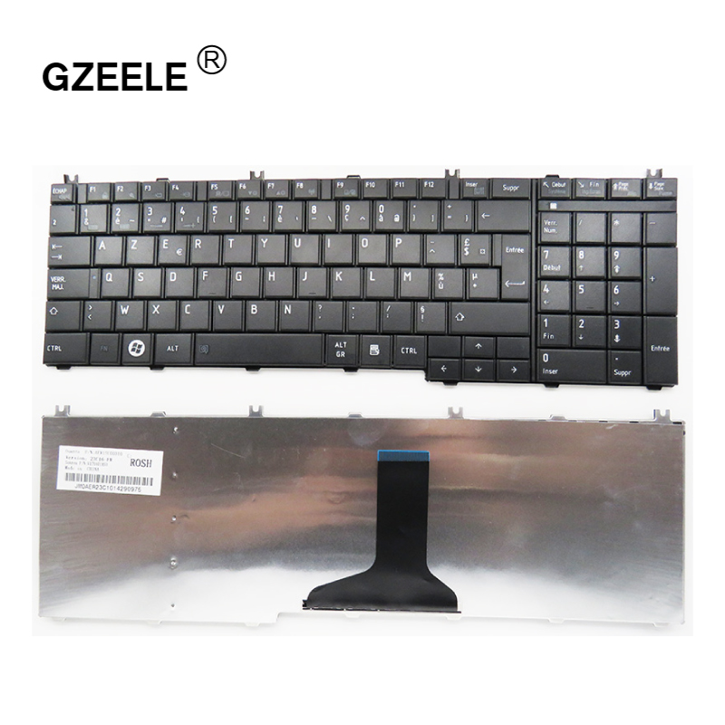 GZEELE French Laptop Keyboard For Toshiba Satellite C650 C655 C655D C660 C670 L650 L655 L670 L675 L750 L755 L755d FR AZERTY