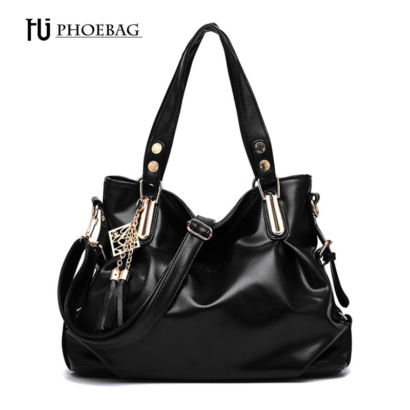 HJPHOEBAG Fashion women shoulder bag High quality lady classic leisure bags tassel Hobos handbags madam pu Leather Bags Z-36