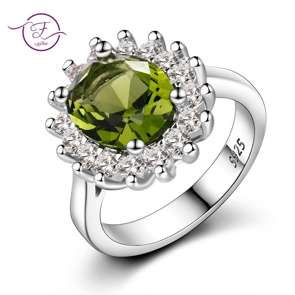 a031fc16af Blume Silber Ringe Mit Peridot Steine Glänzende Luxus Hochzeit Schmuck  Ringe Engagement Für Frauen 925 Ring Auf Verkauf ~ Hot Deal July 2019
