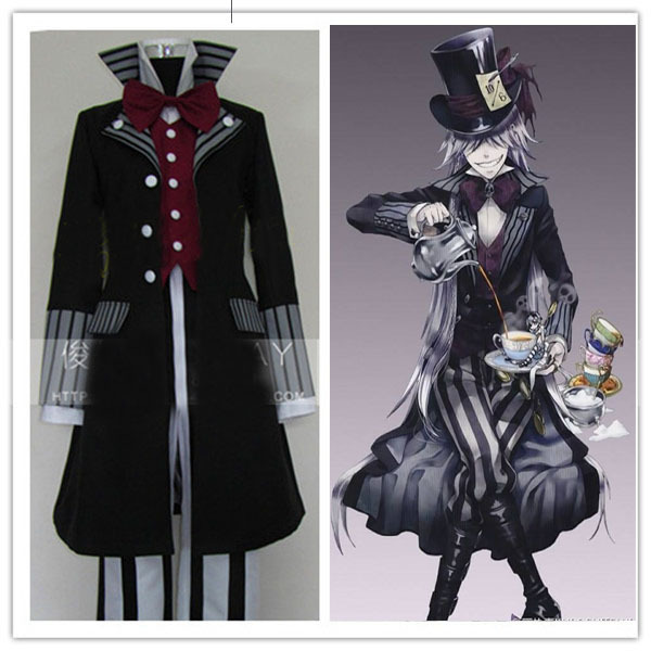 Black Butler Undertaker Death Suit Cosplay Costume For Men
