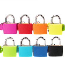 ONUS New Small Mini Strong Steel Padlock Travel Suitcase Diary Lock with 2 Keys Dropshipping  Luggage  Furniture Drawer Lock small mini lock solid plastic case copper padlock travel tiny suitcase and lock with 2 keys have 8 colors home accessories
