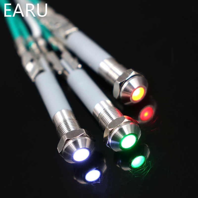 6 ملليمتر Led المعادن مؤشر ضوء للماء IP67 مصباح إشارة 3 فولت 5 فولت 6 فولت 9 فولت 12 فولت 24 فولت 110 فولت 220 فولت الأحمر الأصفر الأزرق الأخضر الأبيض الطيار ختم