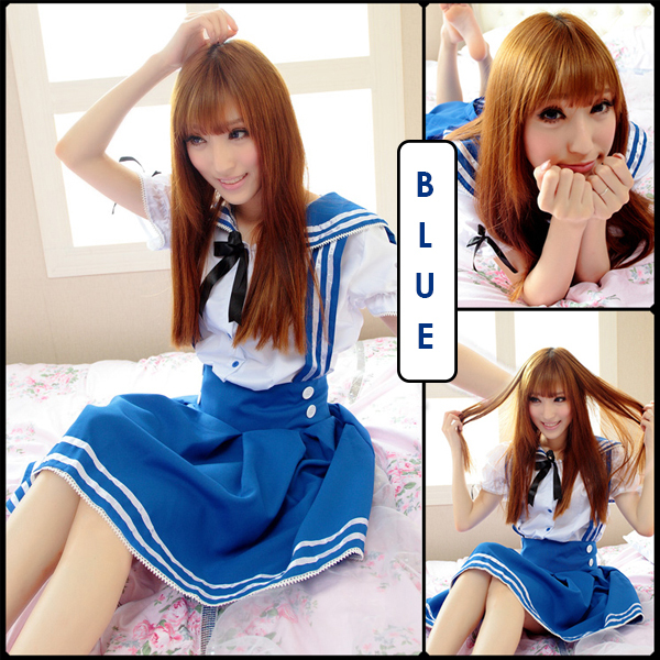5bfa883e0 New Kawaii Lolita Fancy Japanese Anime KK572 Costume 3 Colors School Uniform  and Jumper Strap Skirt-in Kids Costumes & Accessories from Novelty &  Special ...