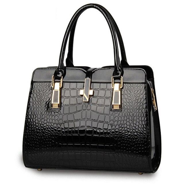 38239701e4f0 female handbags totes new Crocodile texture PU leather fashion shoulder bag  ladies atmosphere ladies bag stand by free drop ship