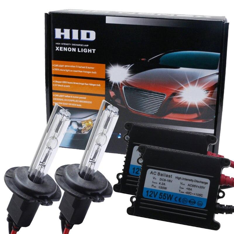 12V55W xenón Auto lámpara de Xenón HID Kit H1 H3 H7 coche balasto electrónico H8