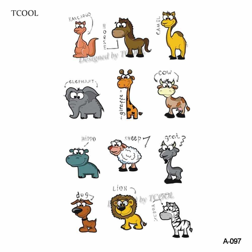 HXMAN 漫画の動物の子供一時的なタトゥーステッカー防水ファッション偽のボディアート入れ墨 9.8 × 6 センチメートルキッズフェイスタオルタトゥー b-030